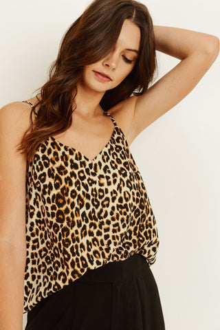 Uncontrollable Cami in Leopard Print - Downtown Chic Online