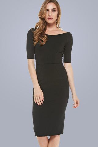 Too Chic For Words dress in black - Downtown Chic Online