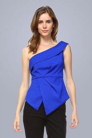 Take Charge Top in Blue - Downtown Chic Online