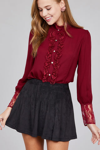 Vino Lover top in burgundy - Downtown Chic Online