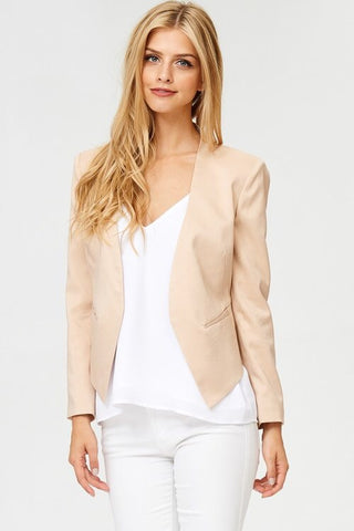 Acquisition blazer in blush nude - Downtown Chic Online