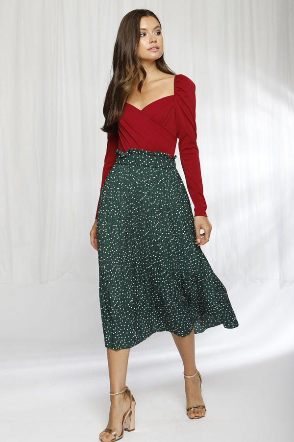 You Got This skirt in Green - Downtown Chic Online