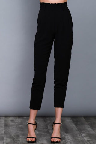Editorial High Waist Trouser in Black - Downtown Chic Online