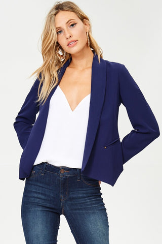 High Roller Blazer in Navy - Downtown Chic Online