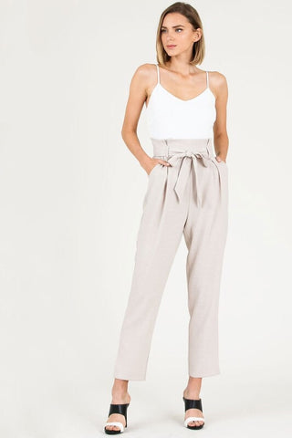 Do it All jumpsuit in taupe - Downtown Chic Online