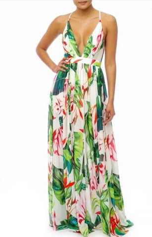 Winter in Miami maxi dress - Downtown Chic Online
