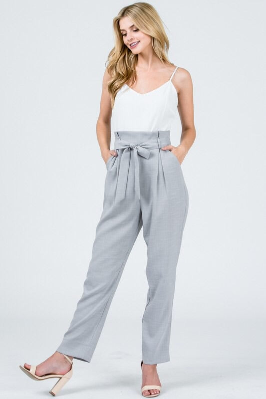 Do it All jumpsuit in heather gray - Downtown Chic Online