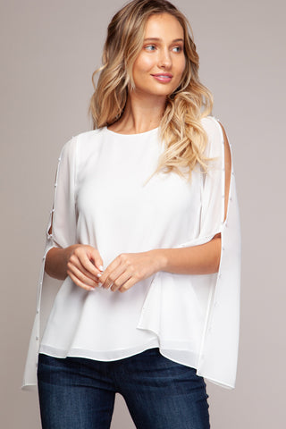 Easy Breezy top in Off White - Downtown Chic Online