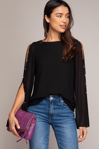 Easy Breezy top in Black - Downtown Chic Online