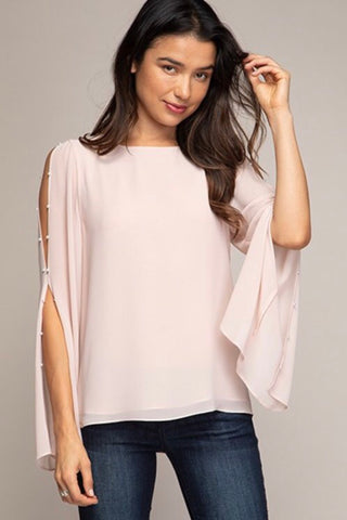 Easy Breezy top in Blush - Downtown Chic Online