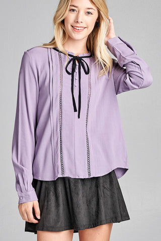 Get It Girl top in lavender - Downtown Chic Online
