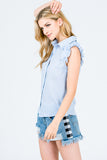 Day Dreamer Tank in light blue - Downtown Chic Online