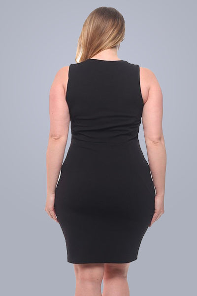 Top Notch Dress in black - Downtown Chic Online