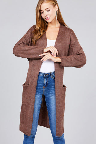 Office AC Cardigan in Red Bean - Downtown Chic Online