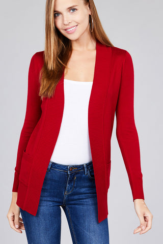 Ruby Red Cardigan - Downtown Chic Online