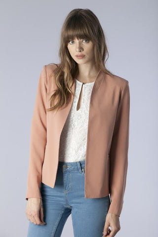 Mona Blazer in Almond - Downtown Chic Online