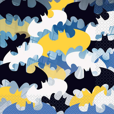 Batman Party Luncheon Square Napkins 33cm - 16Pc
