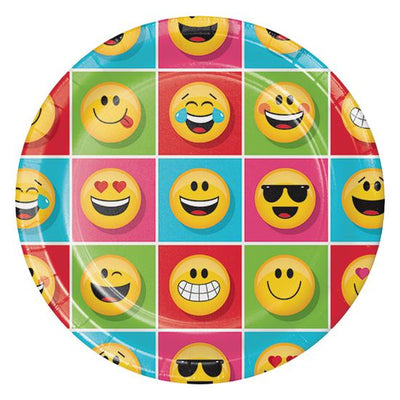 "Show Your Emojians Party Paper Plates23cm (9"")  -Pack of 8"