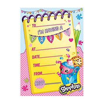 Shopkins Party Invitations Pack of 20