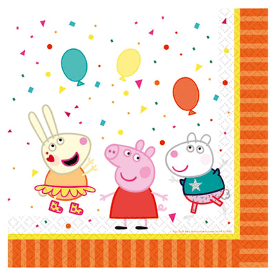 Peppa Pig Party Napkins Pack of 16