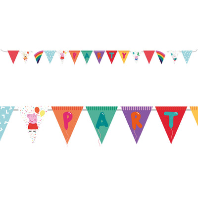 Peppa Pig Card Party Banner