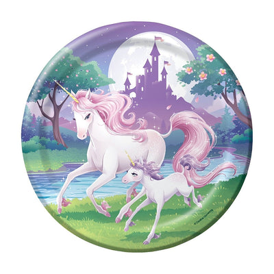 Unicorn Fantasy Boys Girls Birthday Party Paper Plate (23cm) - Pack of 8