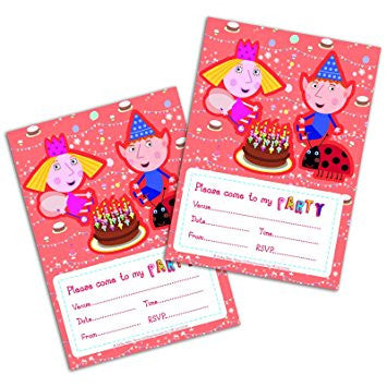Ben & Holly Party Invitation Card with Envelopes - Pack 20