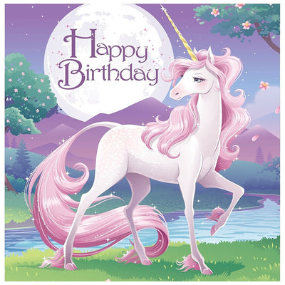 Unicorn Fantasy Girls Birthday Party Complete Tableware Pack Kit For 16