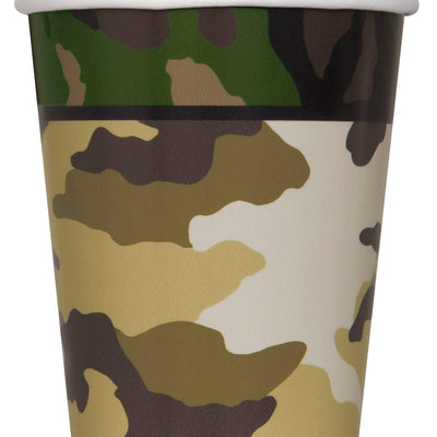 Military Camouflage Paper Cups -Pack of 8