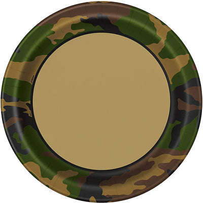 Military Camouflage Paper Plates -Pack of 8