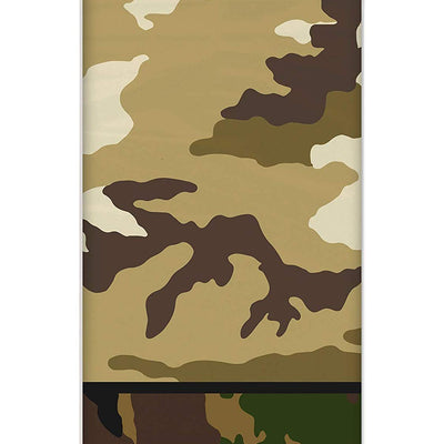 Military Camouflage Plastic Table cover-Pack of 1