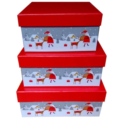 Set of 3 Premium Christmas Gift Box