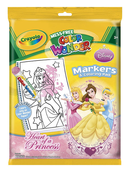 Wholesale Crayola Mess Free Color Wonder Disney Princess Markers & Col WholesaleHub
