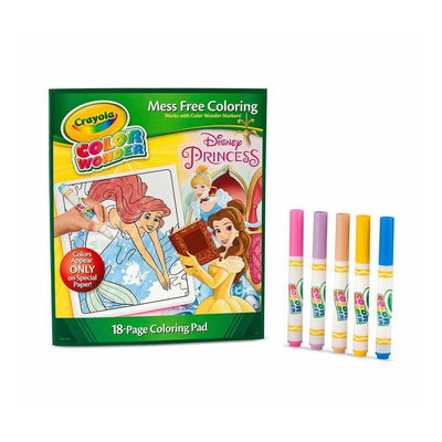 Wholesale Crayola Mess Free Color Wonder Disney Princess Markers & Coloring Pad