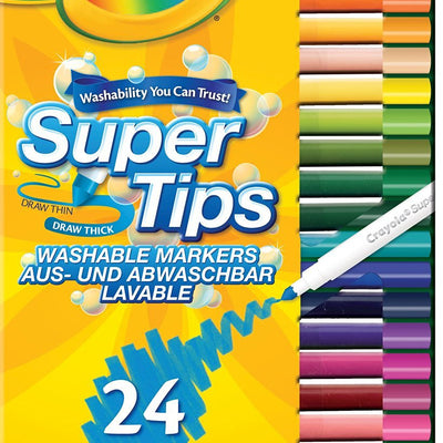 Wholesale Crayola Super Tips (24- Piece, Multi-Colour)