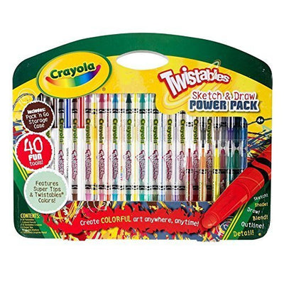 Wholesale Crayola Twistables Sketch and Draw Power Pack (40 piece set)