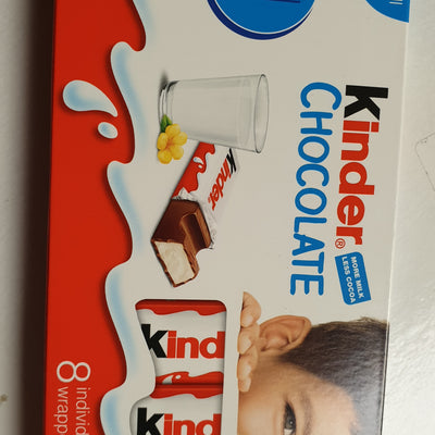 Kinder Chocolate small bars - 8 in a pack- 100g