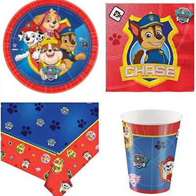 New Paw Patrol Party Supplies - Cups Plates Table Cover Napkins