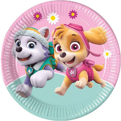 Skye & Everest Pink Paw Patrol Paper Plates - Pack of 8