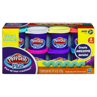Wholesale Play-Doh Plus Color Set, NET WT 8OZ, 8-Pack
