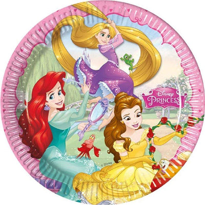 Disney Princess Storybook Birthday Party Paper Plates-Pack of 8