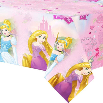 Disney Princess Storybook Birthday Party Plastic Table Cover -Pack of 1