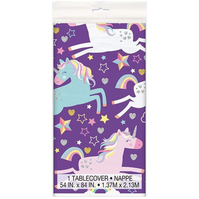 Unicorn Birthday Party Plastic Rectangular Table cover Pack of 1
