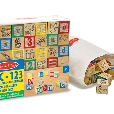 "Wholesale Melissa & Doug ""UC"" Wooden ABC/123 Blocks"
