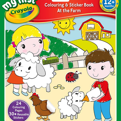 Crayola At The Farm Colouring and Sticker Book