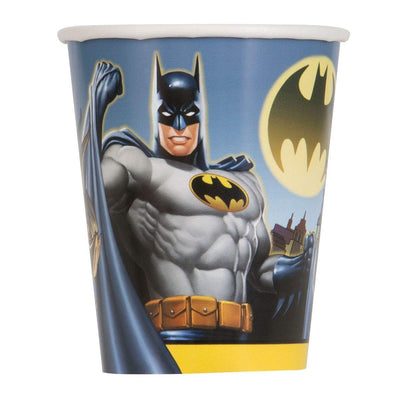 Dark knight Batman Kids Party Paper Cups 9oz -Pack of 8