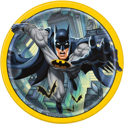 "Dark kinght Batman Kids Party Paper Plates 9"" -Pack of 8"