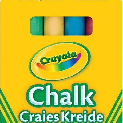 Crayola Anti Dust Assorted Coloured Chalk 12 Pack