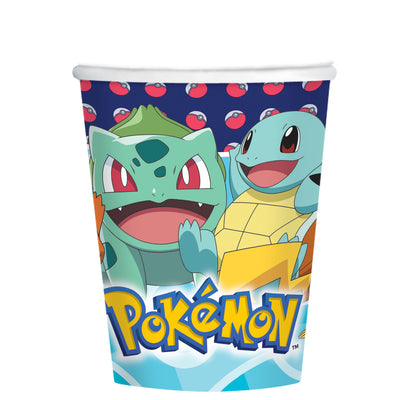 Pokemon Kids Birthday Party Paper Cup - Pack of 8