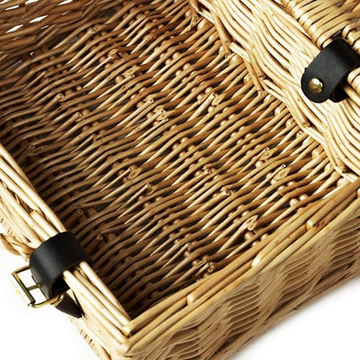 Completely Hand Woven Traditional Wicker Hamper Gift Box With Lid and Lock- 10 Inch. Strong Deep construction, offering greater space for contents. Box Measurement: Height: 8cm Width: 22cm Front to Back: 16cm.